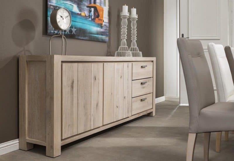 Caroni meubelen Eiken white wash Habufa  Global Furniture Webshop